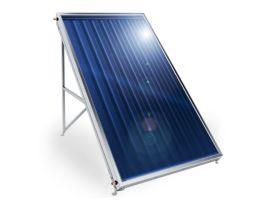 Слънчев колектор Елдом плосък, с алуминиев оребрен абсорбер, 2 кв. м